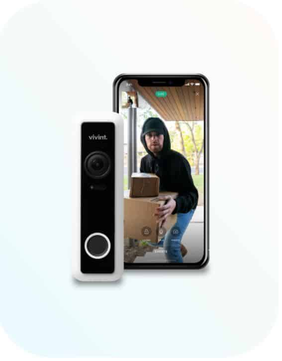 parcel theif capured on doorbell camera