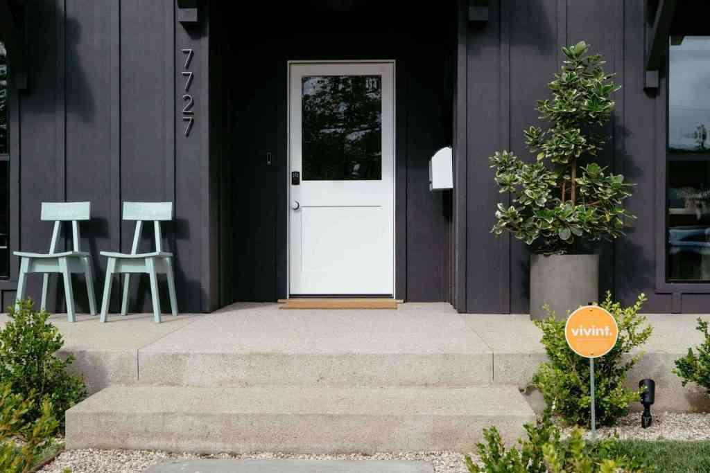 Vivint Black Farm house Front door